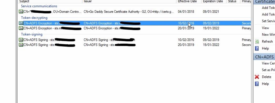 Token Signing certificate expiring – ADFS – Experience Microsoft